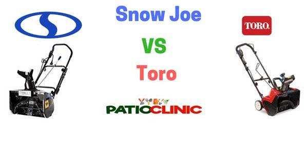 Snow Joe vs. Toro